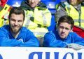 St Johnstone's Richard Foster and Danny Swanson.
