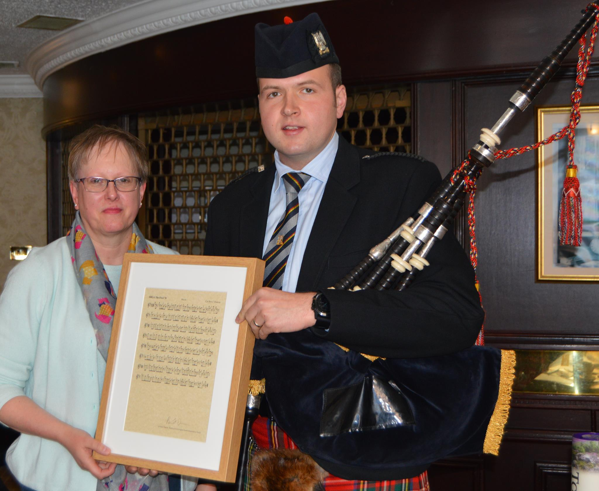 Corporal Ben Duncan and Jennifer Stewart of the Lonach Highland Gathering
