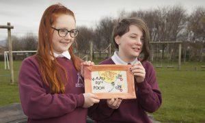 Northmuir primary pupils Issy Ramsay and Charley-Rae Clarke