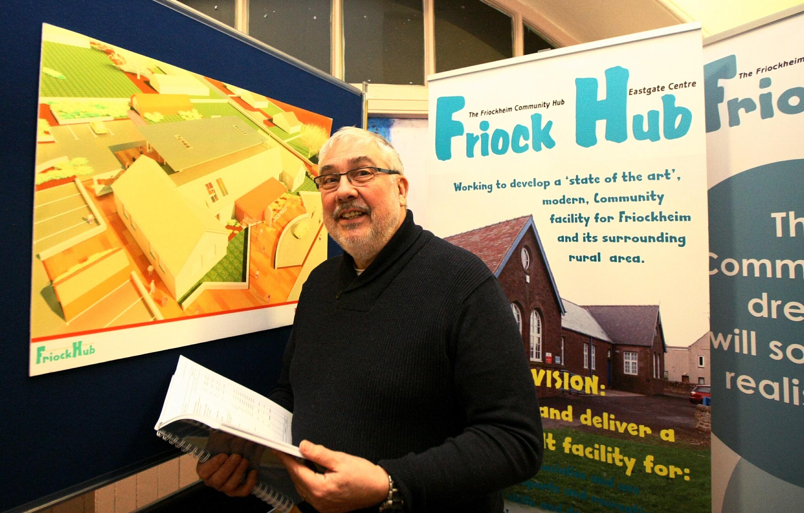 Pictured at the Friockheim Hub, Dougie Pond - Chairman of the Friockheim Community Hub