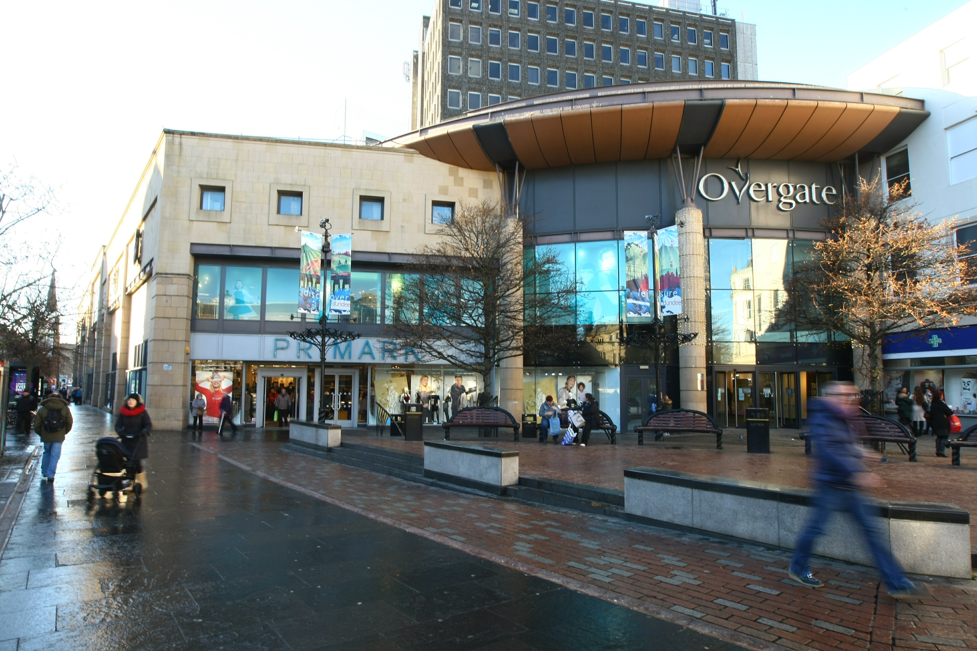 The man exposed himself close to the Overgate shopping centre in central Dundee.