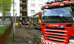 Bin blaze at Bonnethill court