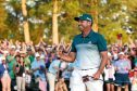 Sergio Gracia shows the emotion of his long-awaited first major title at the Masters on Sunday.