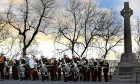 A service takes place at the Scottish National War Memorial at Edinburgh Castle to mark the centenary of the Battle of Arras.