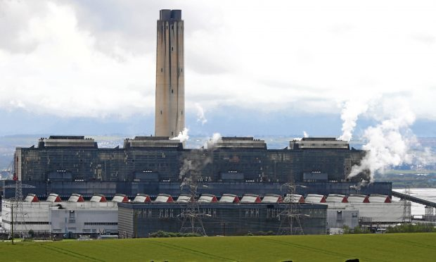 The now-closed Longannet fossil-fuel power station.