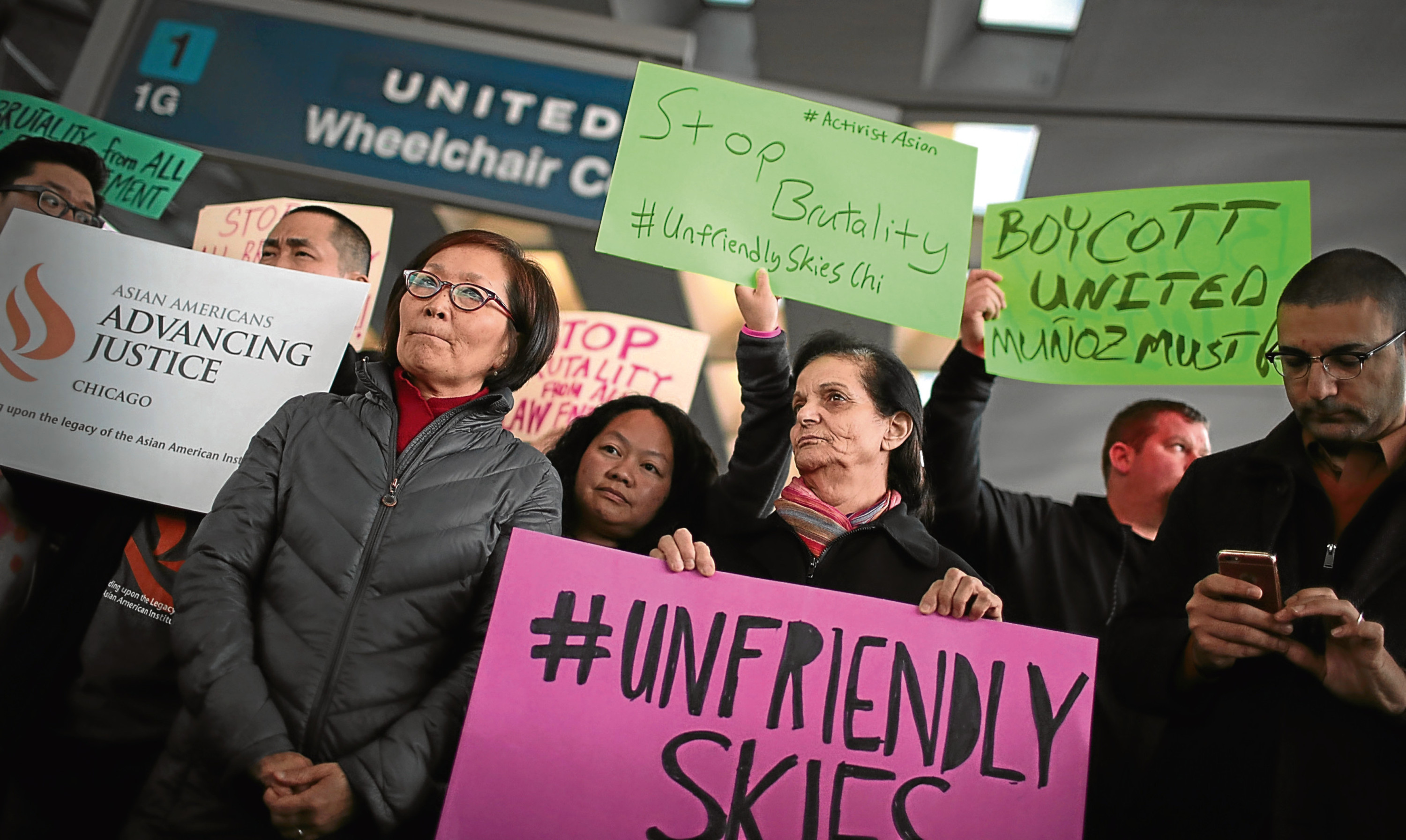 United Airlines treatment of a passenger sparked protests