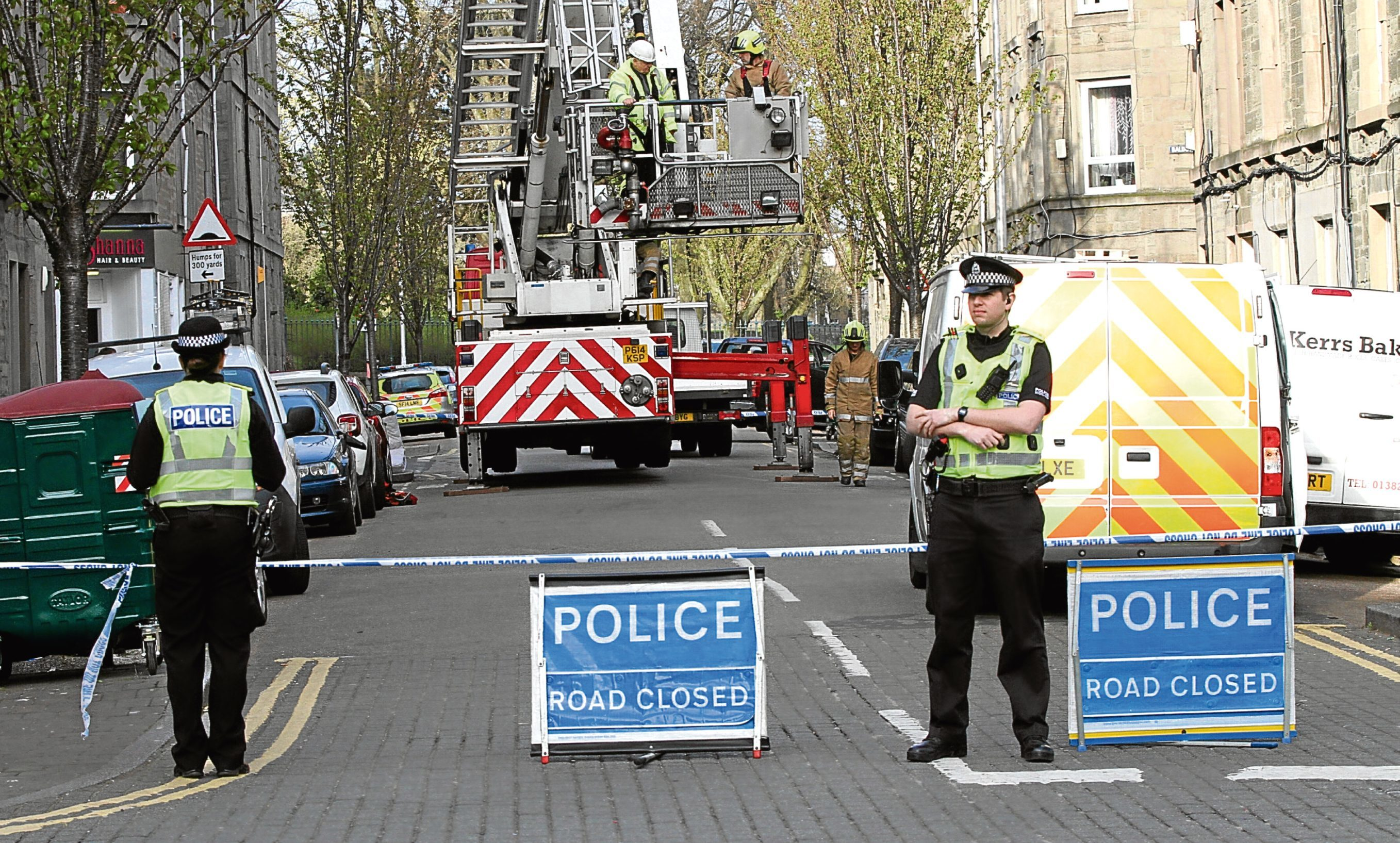 Emergency crews at the scene of April's explosion in Park Avenue.