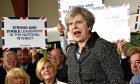 Theresa May campaigning in South Wales in an election Pete believes has been called only to serve the Tories' own interests.