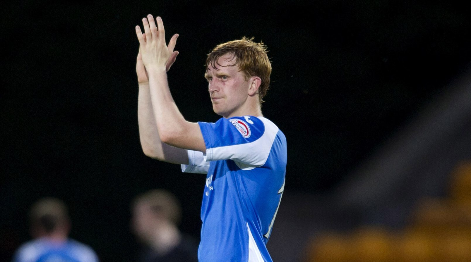 Liam Craig applauds the St Johnstone fans after going out to Eskisehirspor.