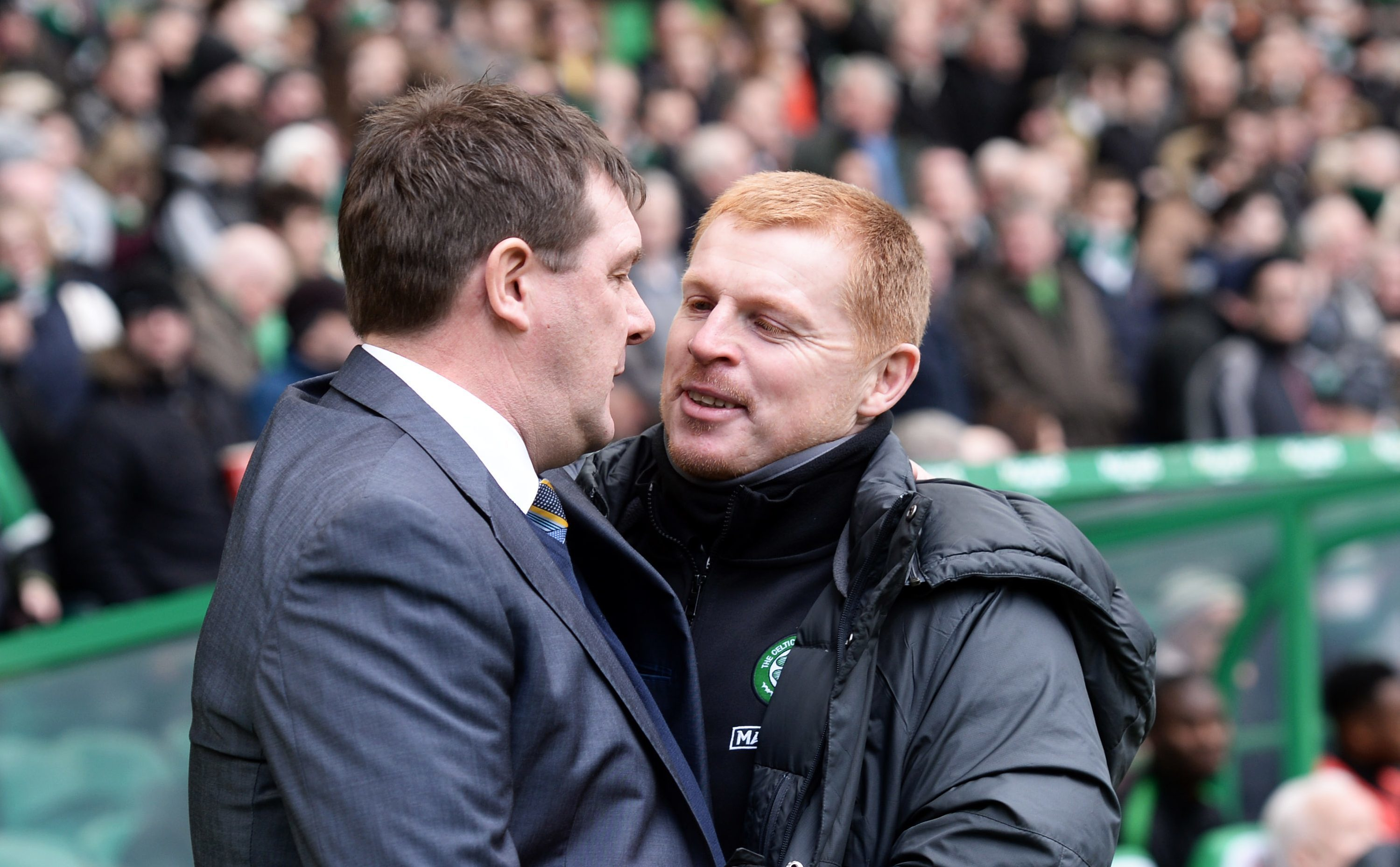 Tommy Wright hopes his friend Neil Lennon isn't smiling next weekend.