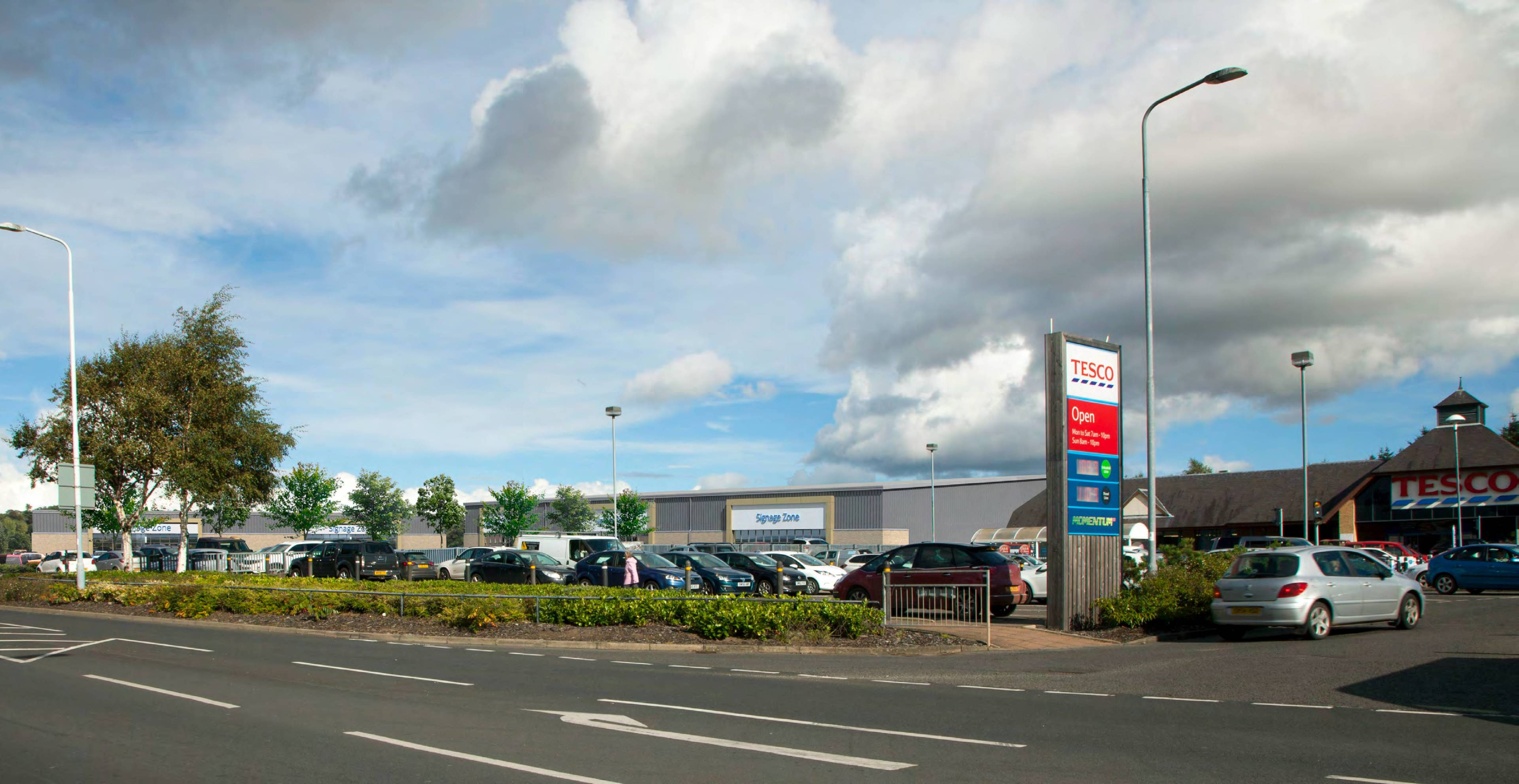 A graphic of how the retail park in Cupar's South Road will look
