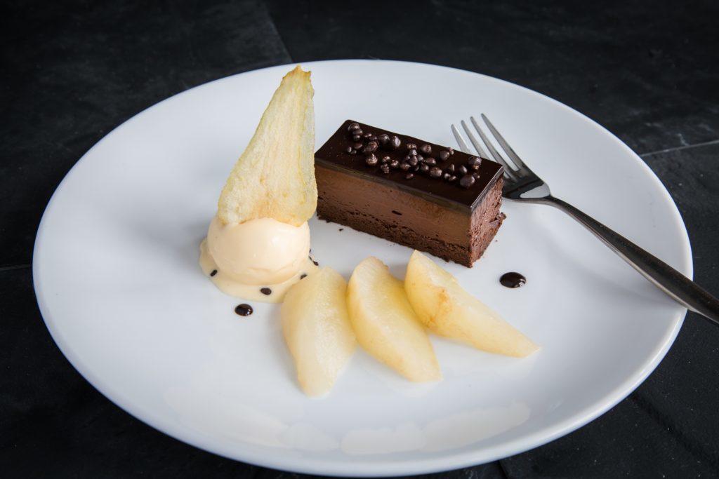 Yum! A chocolate dessert made by John.
