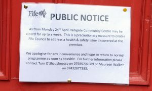 The community hub has been closed temporarily