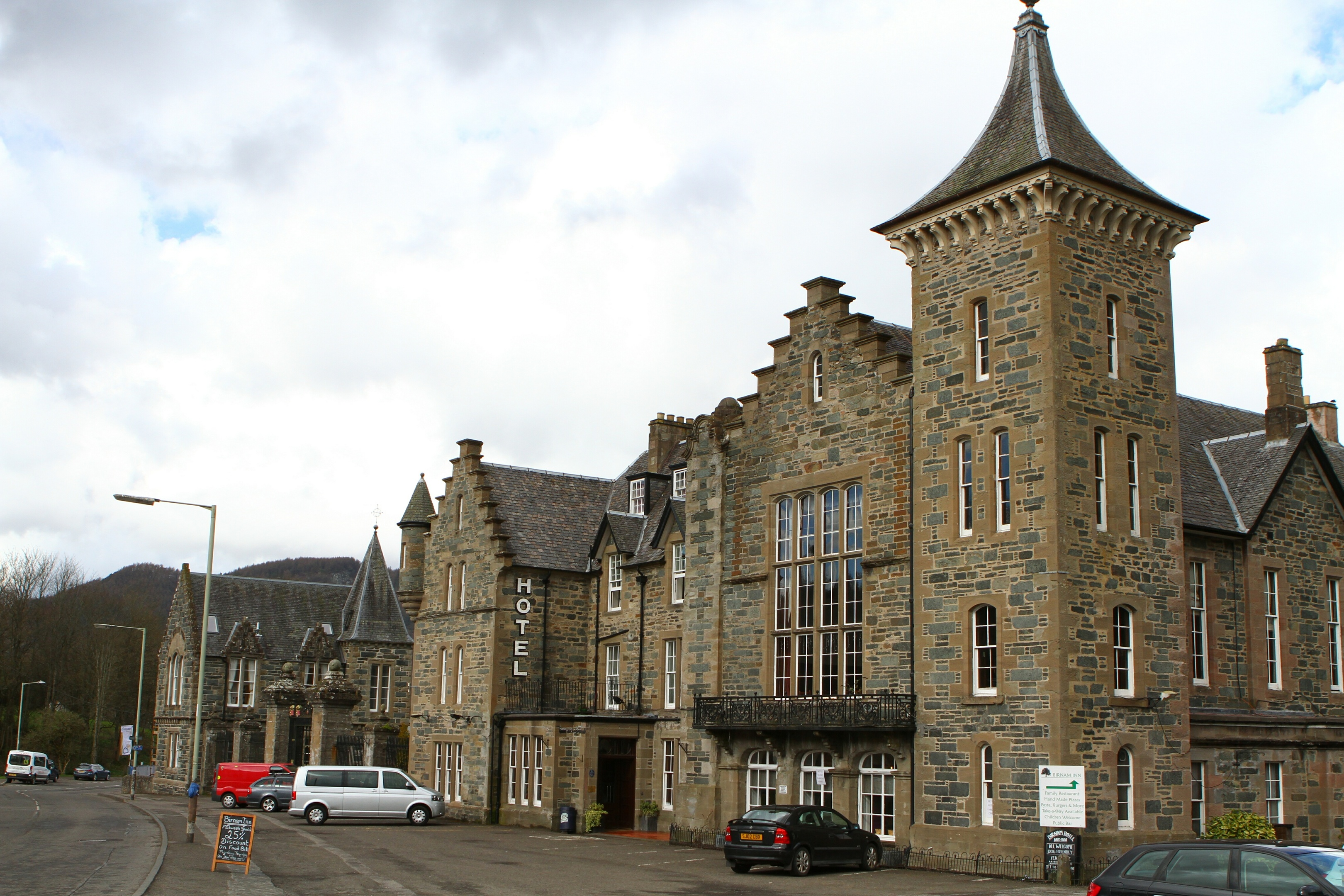 The Birnam Hotel is among the sites chosen.