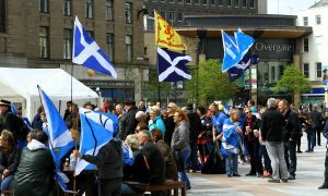 The crowds at the Fae Fife Tae Dundee rally.