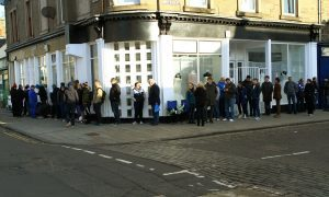 The crowds in Broughty Ferry on Record Store Day.