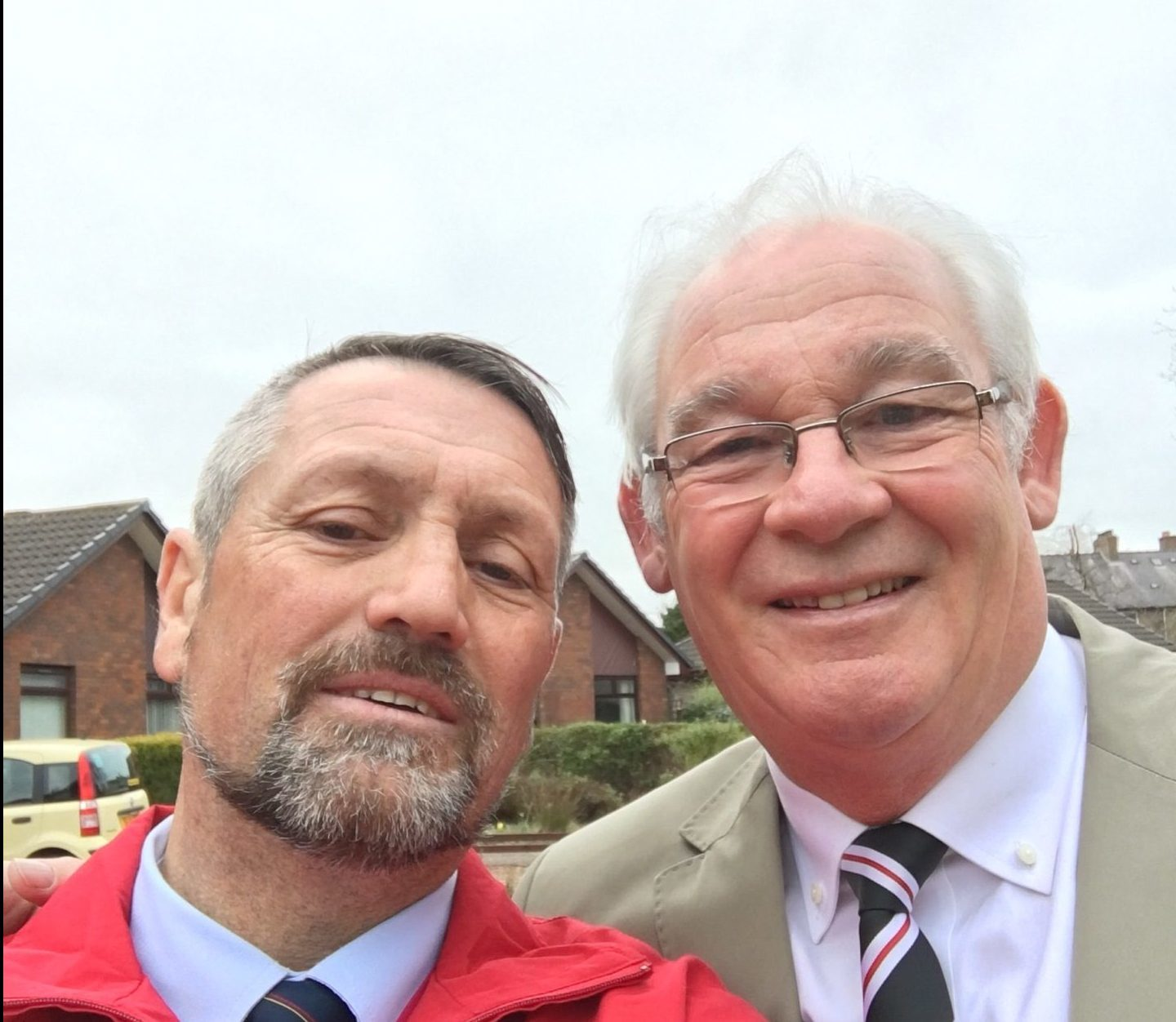 Garry Haldane, left, with Provost Jim Leishman.
