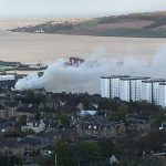 Raging fire damages abandoned building near heart of Dundee