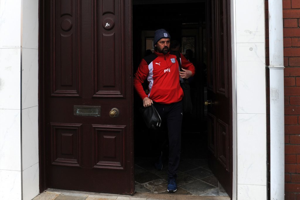 Paul Hartley leaves Dens Park.