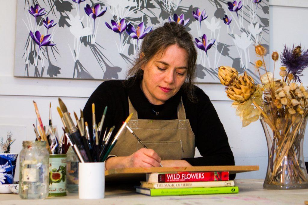Kirsty Lorenz at work in her Ladybank Station studio
