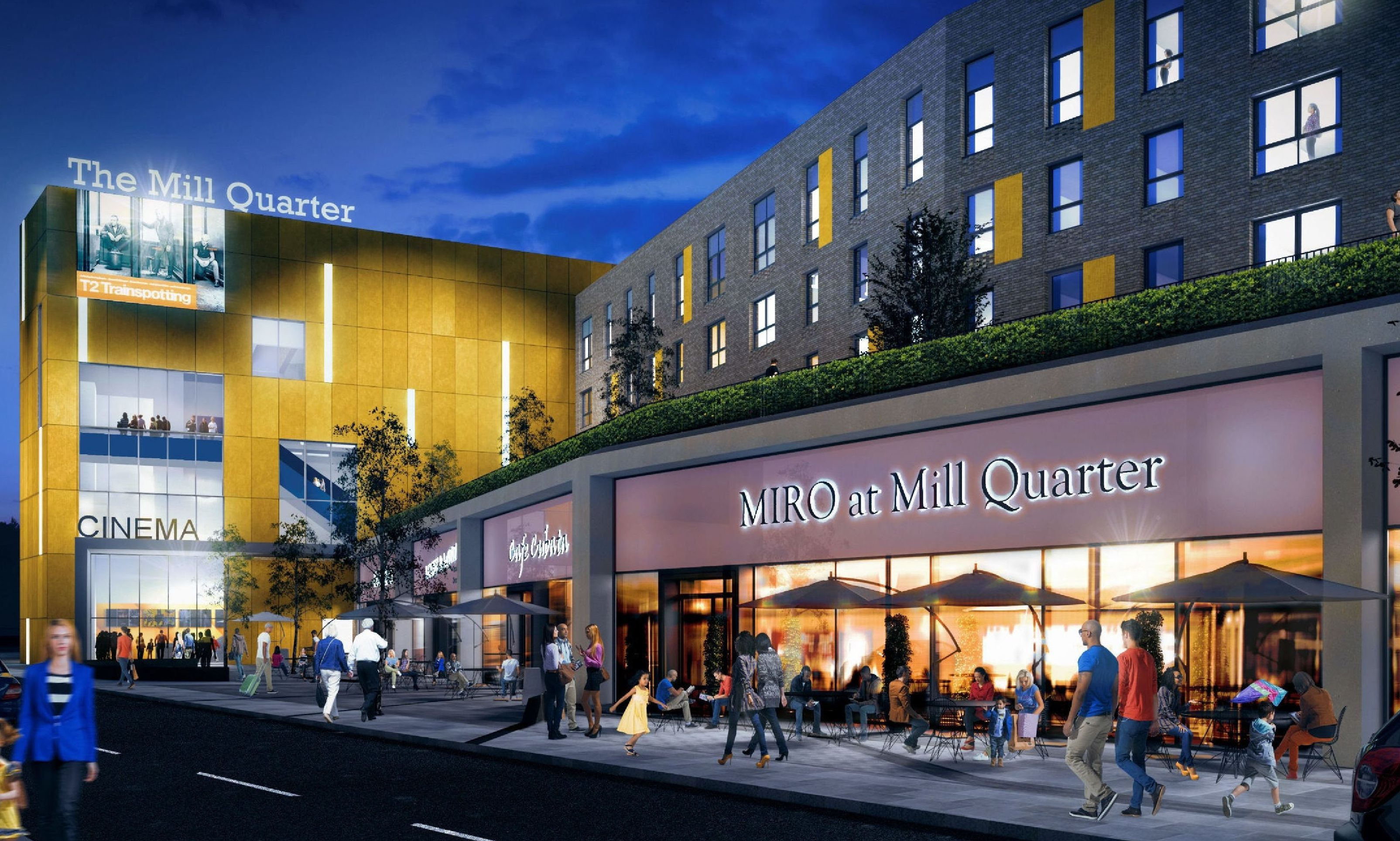 An artists impression of how the new Mill Quarter cinema and retail complex could look.