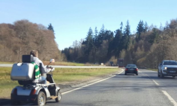 A mobility scooter spotted on the A9.