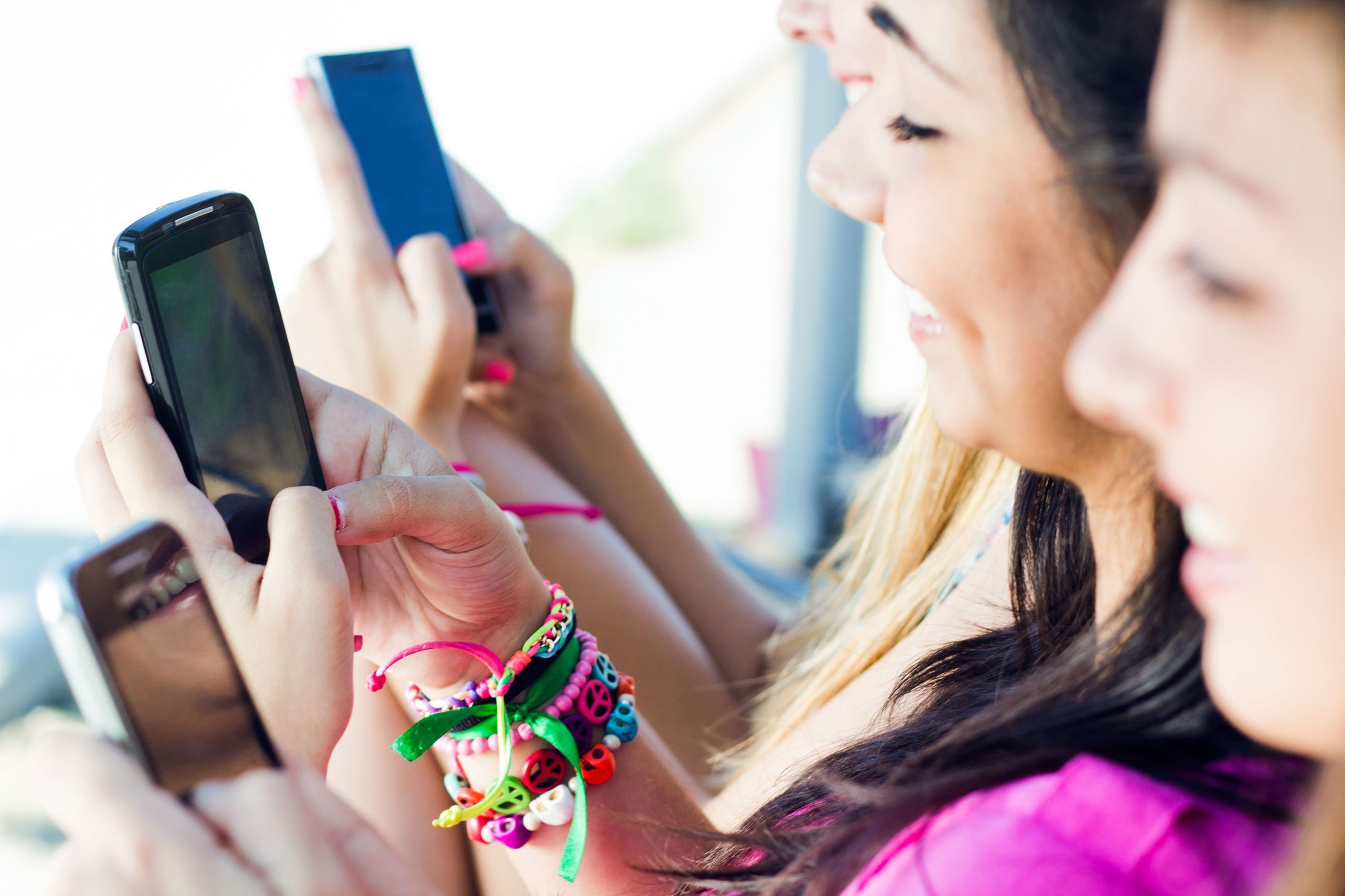 Girls with their smartphones in action. There's a time and a place, argues Craig Smith.