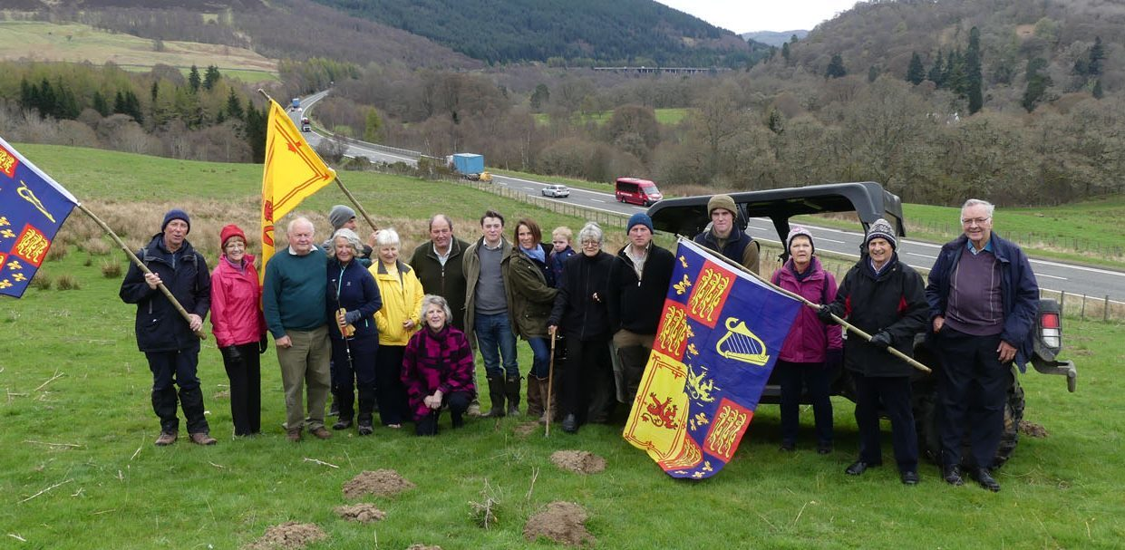 Killiecrankie residents who oppose the A9 dualling.