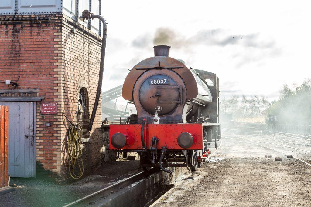 Steam train at Bo'Ness.