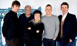 Fife author Ian Rankin (left) celebrates the 30th anniversary of Raintown with Deacon Blue