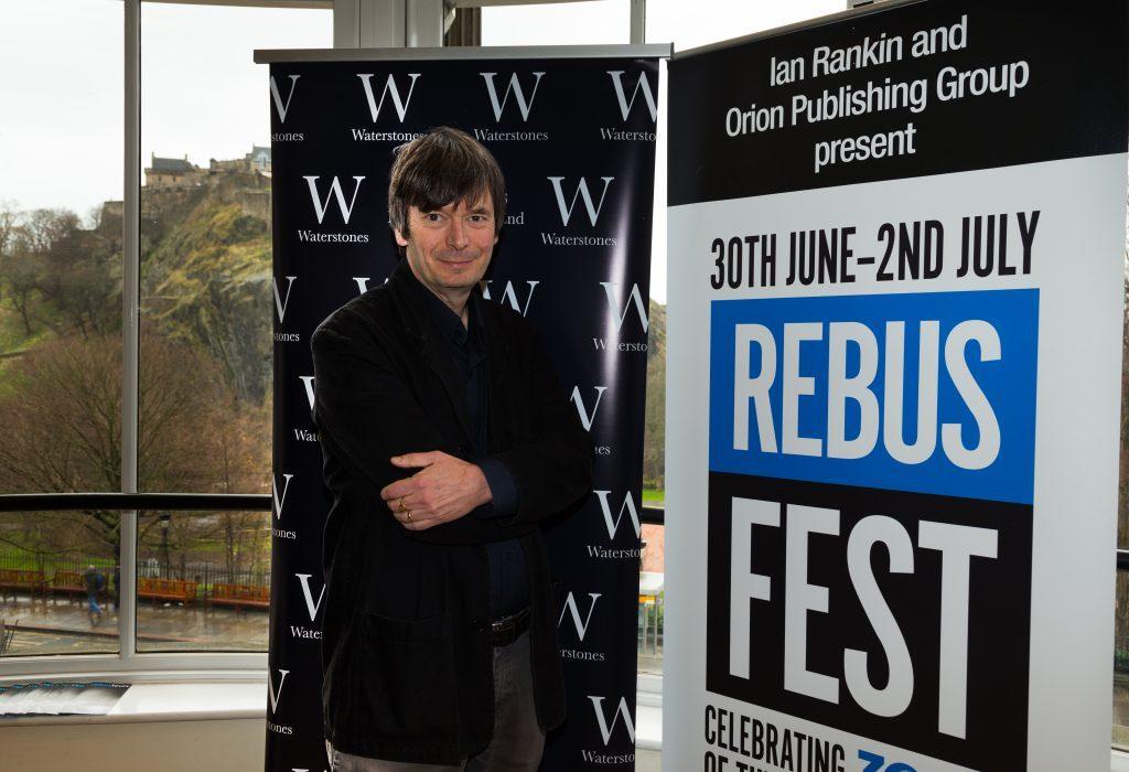 Ian Rankin at the launch of RebusFest in Edinburgh