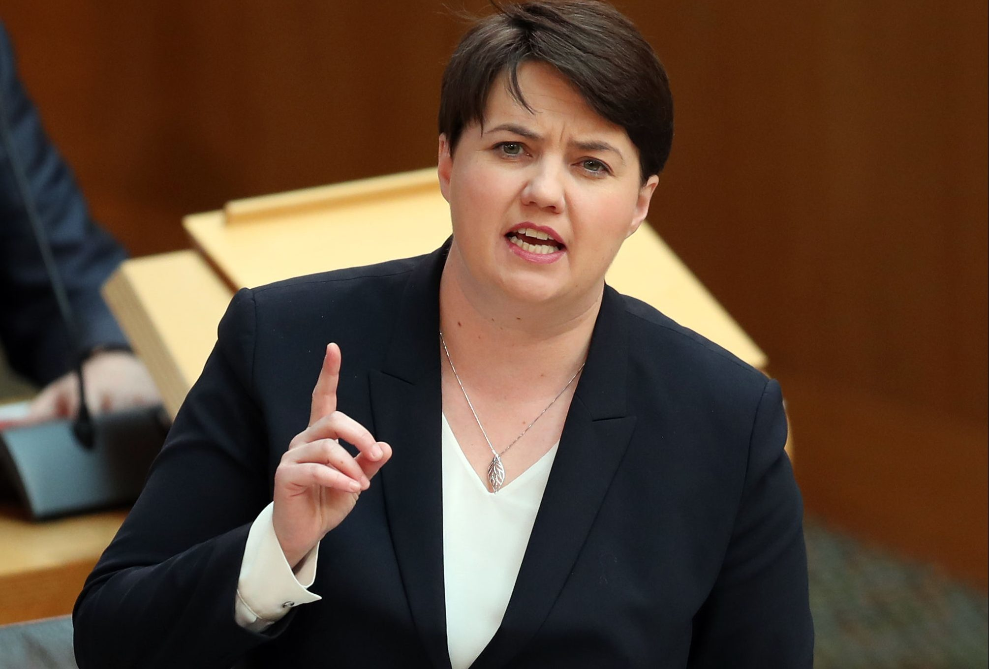 Ruth Davidson during First Minister's Questions.