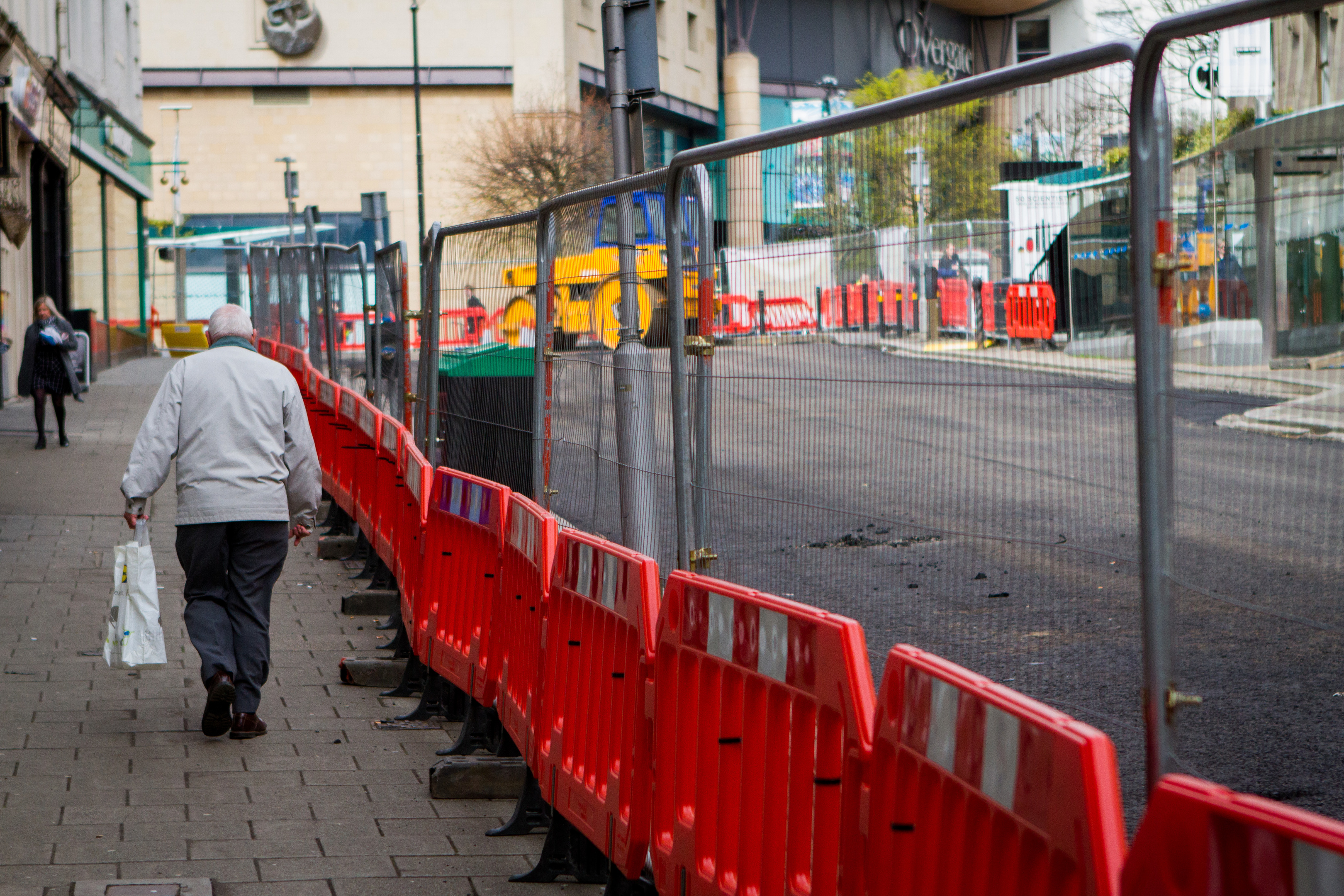 The roadworks have shut down large parts of Dundee city centre.