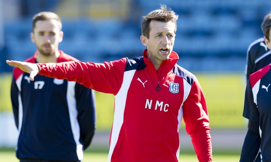 Neil McCann taking Dundee training.