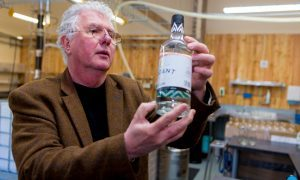 Andrew Mackenzie inspecting the latest bottles.
