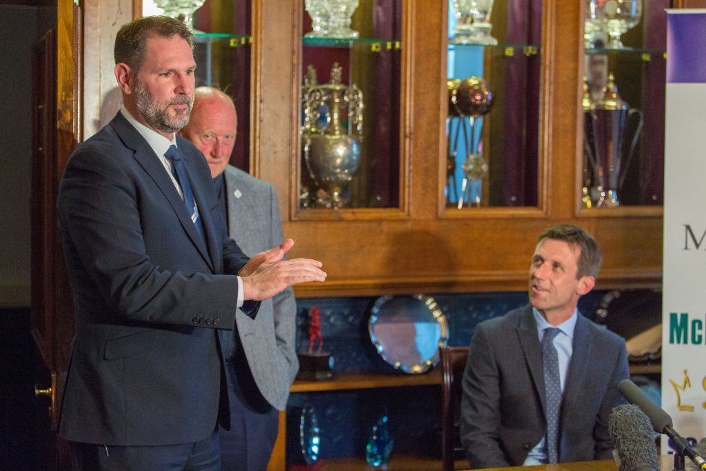 Dundee managing director John Nelms introduces new manager Neil McCann.