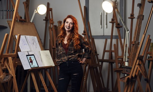Sophie North at work in the studio.