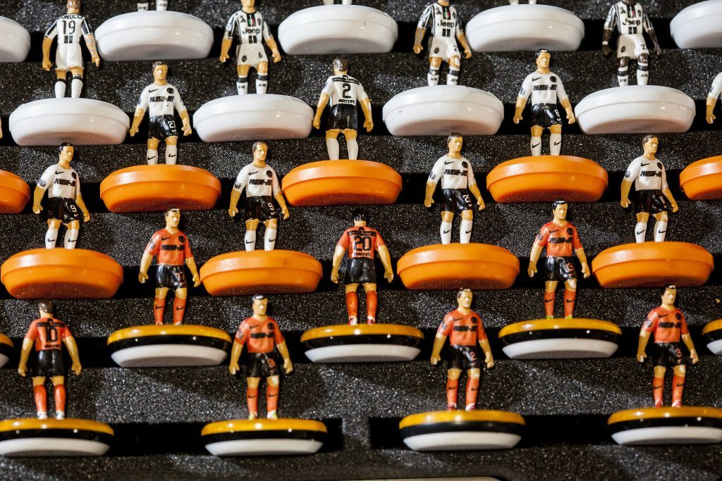 Dundee United Table Football Club play in Dundee United FC colours!