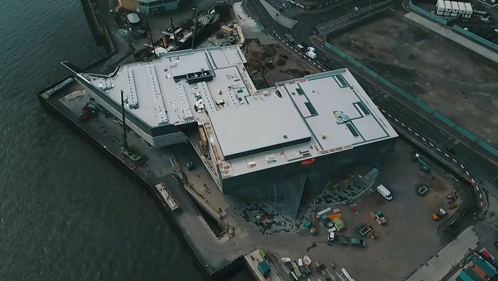 An overhead view of the V&A.