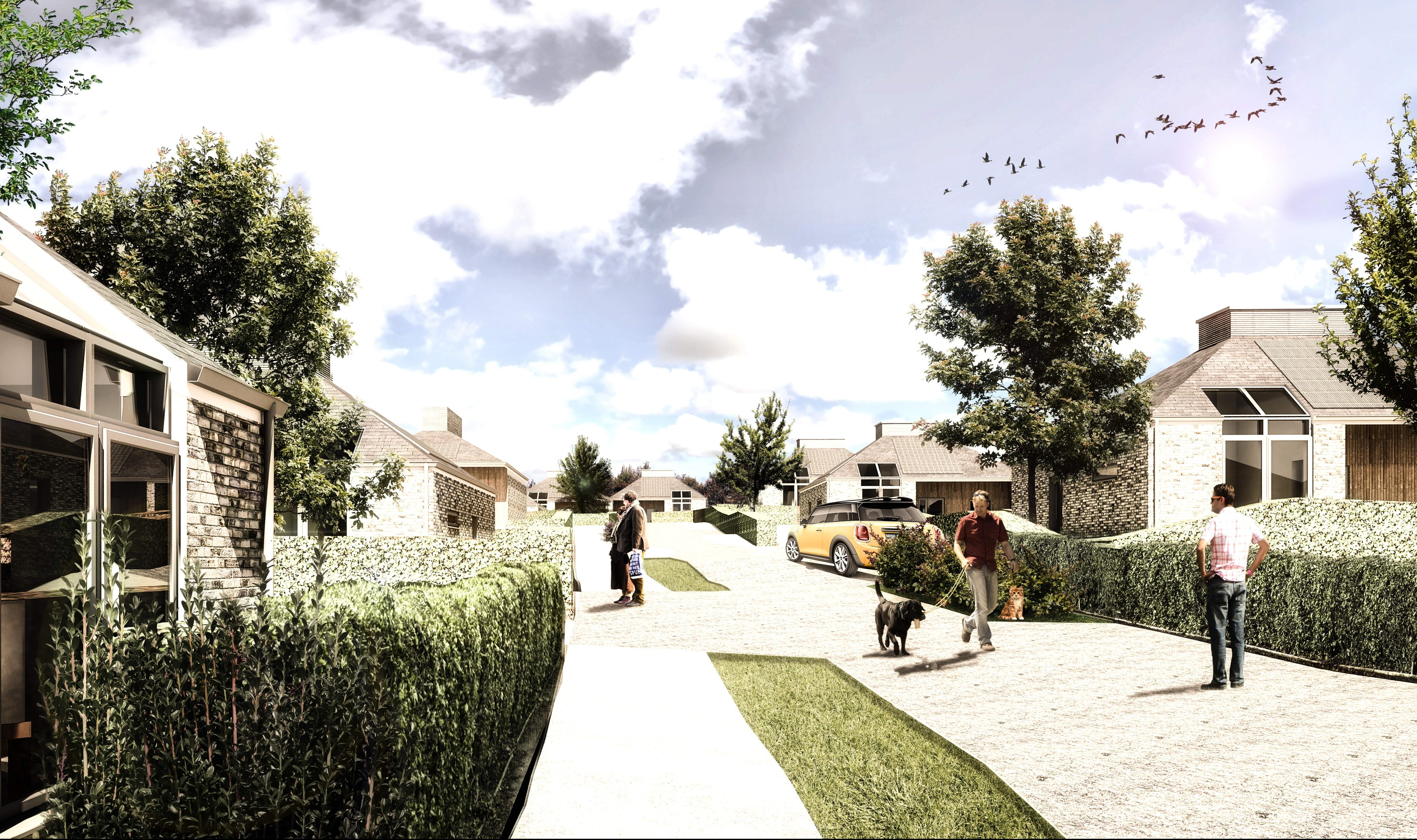 An impression of what the new homes at Gannochy in Perth will look like. Thousands of new homes are being created across Perth and Kinross. Homes for Scotland believes they are vital to the area's future prosperity.