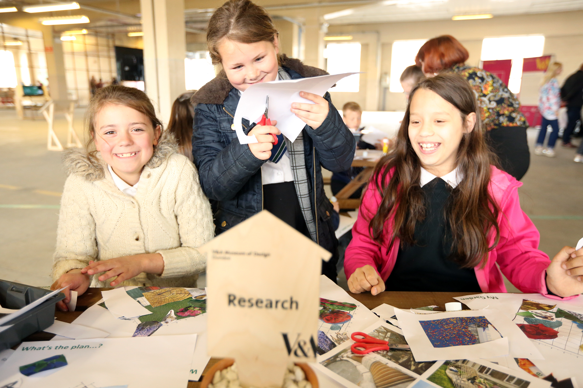 Young visitors to the 2016 Dundee Design Festival