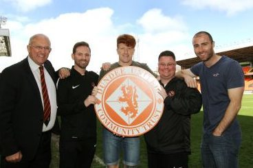 David Dorward, Gordon Grady, striker Simon Murray, Jamie Kirk and defender Sean Dillon launch the new venture.