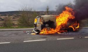 Dramatic A9 van blaze