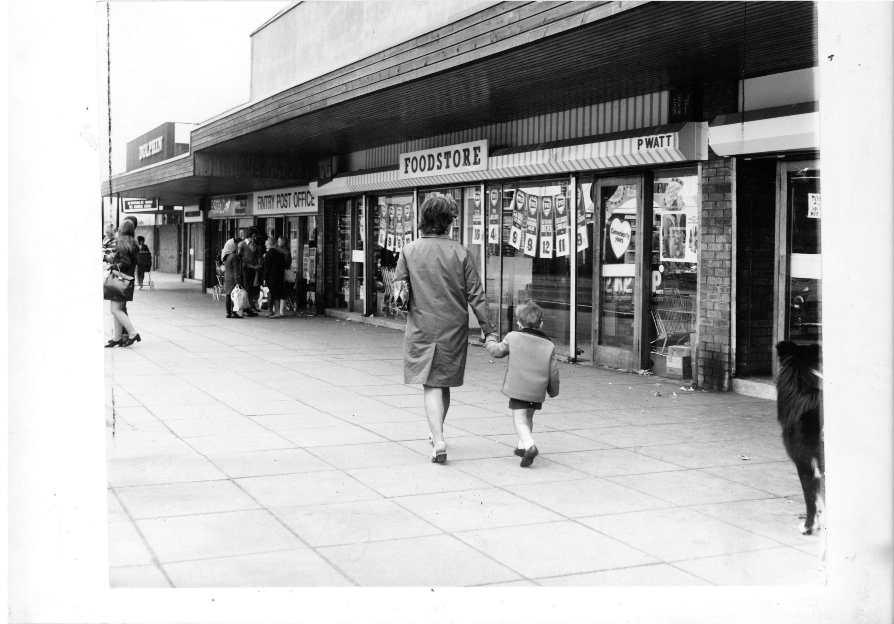 Fintry Road, pictured in 1972, is the address written on the box of film.