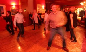 People enjoy dancing in true Northern Soul style.