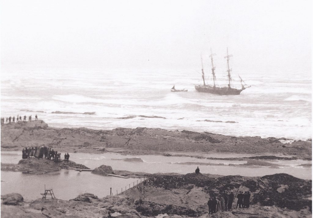 The Wilhelmina, shipwrecked in St Andrews Bay in 1912