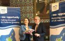 Dr Eilidh Whiteford MP signs the Scottish Fishermens Federation commitment to oppose CFP. Picture by Lindsay Razaq