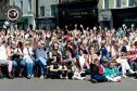 Fans enjoy the music in the High Street at last year's event.
