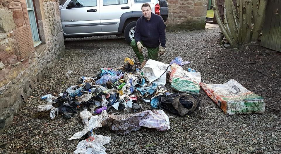 Anti-litter crusader Ralph Coutts.