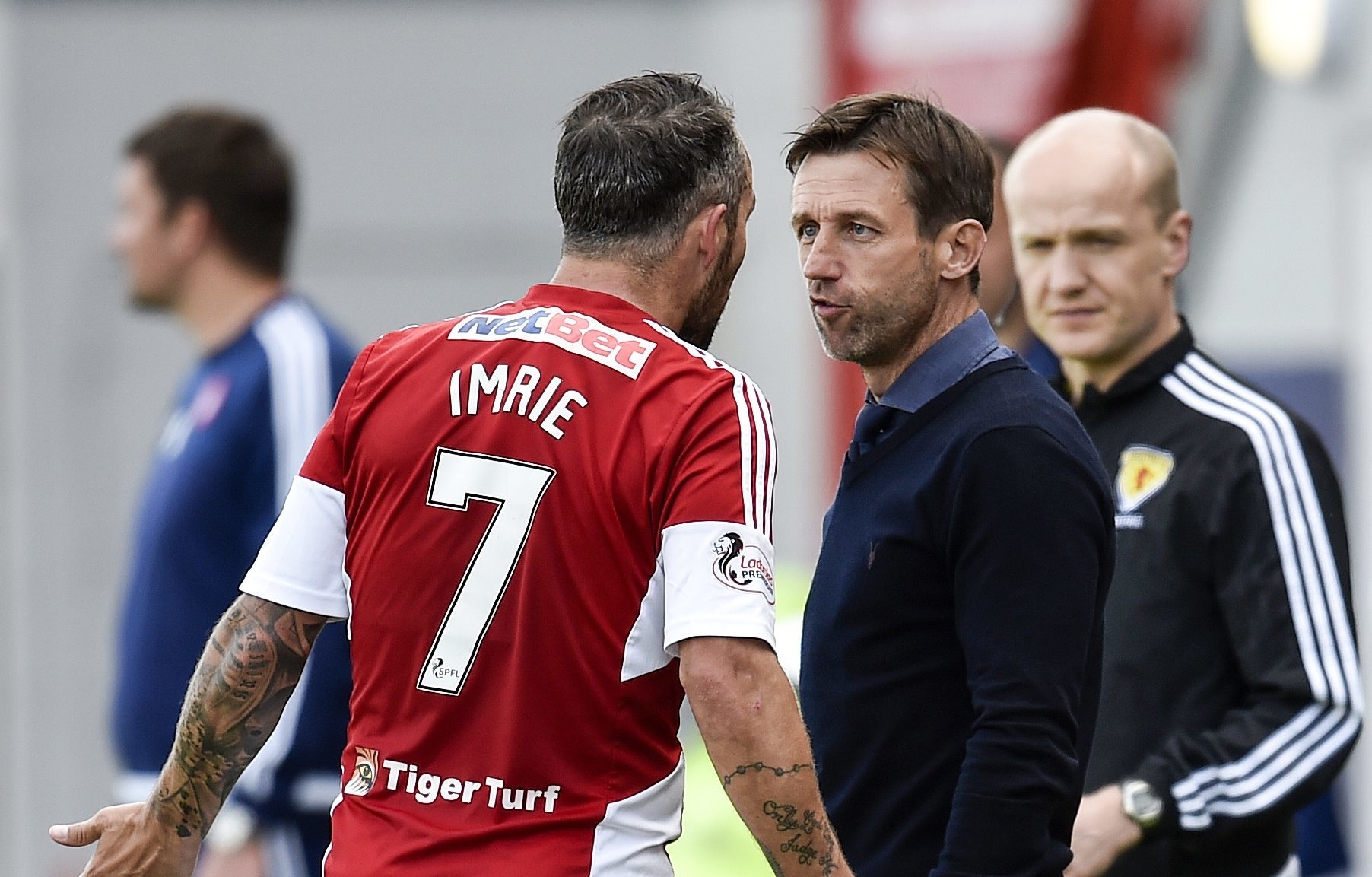 Neil McCann and Dougie Imrie come face to face.